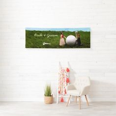 Golf Wedding Invitation Cards and Party Supplies - Thaninee Media Golf Party Favors, Golf Party Decorations, Party Centerpieces, Golf Wedding, Wedding Bride, Wedding Cards, Wedding Gifts, Postcard Wedding Invitation, Wedding Invitations