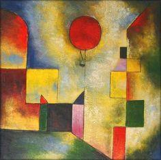 Paul Klee Globo rojo, 1922 Técnica: Muselina Creta, Pintura al aceite