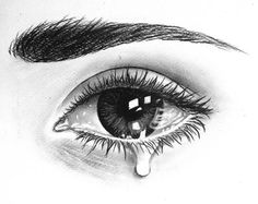 pencil sketch of eye crying drawings in 2018 pinterest crying