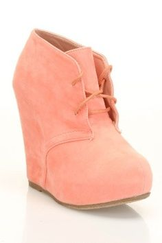 Coral booty wedges are for summer