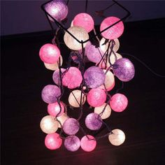 Gaiashine 20 35 pastel cotton balls string fairy lights home
