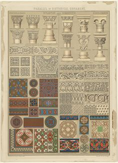 Parallel of Historical Ornament, Byzantine and Romanesque by Boston Public Library, via Flickr