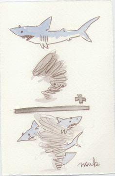 an artistic representation of the sharknado