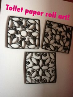 Made with toilet paper rolls. Can also use paper towel rolls