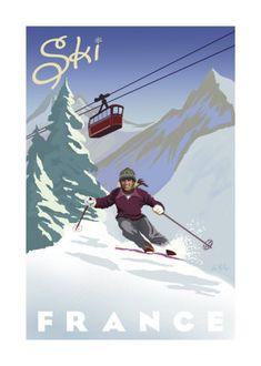 {Learn to ski} Ski in France