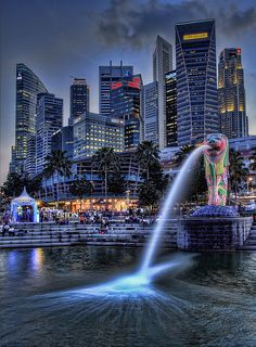 Marina Bay Light Festival -HDR by martywindle (expat yorkshire), via Flickr