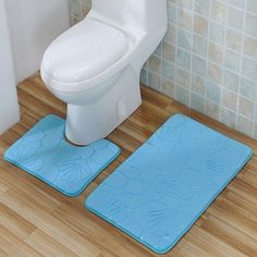 Hot Selling Bathmat Non-Slip Bathmat Bathroom Rug Set Contour Mat Clean Home Washroom Products Solid Color