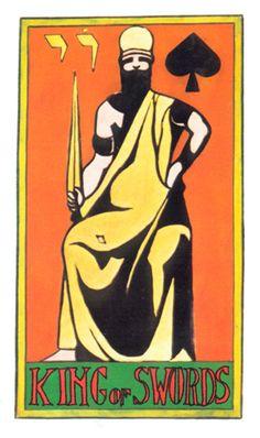 King of Swords - Tarot of Papus