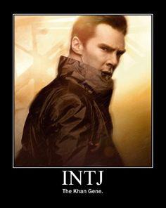 INTJ. The Khan Gene. (Insiders Only) #Star Trek, Benedict Cumberbatch. #Into Darkness.