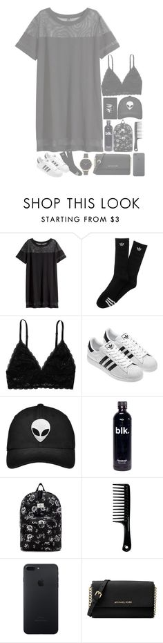 """//•now we're burning all the bridges•\\"" by my-happy-little-pill ❤ liked on Polyvore featuring H&M, adidas, Monki, OBEY Clothing, Michael Kors and Olivia Burton"