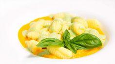 Gnocchi Senza Glutine con Crema di Carote, Stracchino e Basilico