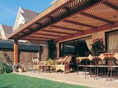 The wooden pergola is a good solution to add beauty to your garden. If you are not ready to spend thousands of dollars for building a cozy pergola then you may devise new strategies of trying out something different so that you can re Wood Pergola Kits, Pergola Garden, Patio Gazebo, Pergola Canopy, Metal Pergola, Wooden Pergola, Patio Roof, Awning Patio, Gardens