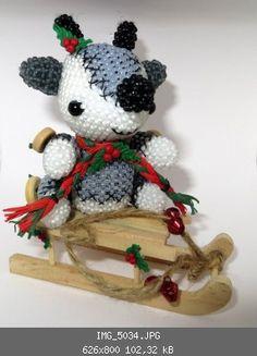 Weihnachtliches Rentier - Tiere - Perlentiere-Forum