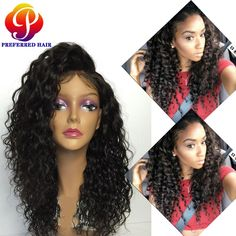 Find More Synthetic Wigs Information about Long Women Realistic Wigs Black Hair Deep Curly Synthetic Frontal Lace Wigs Baby Hair Frontal Lace Synthetic Wigs Free Shipping ,High Quality wig stock,China wig clip Suppliers, Cheap wig glue from Qingdao Preferred Hair Products Co., Ltd. on Aliexpress.com