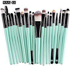 details zu 20 tlg professionelle kosmetik pinsel makeup brush schminkpinsel set mit etui. Black Bedroom Furniture Sets. Home Design Ideas