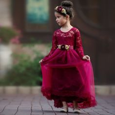 Flower Girl Dresses in Various Colors Rustic Flower Girls, Lace Flower Girls, Dress Flower, Tulle Dress, Girls Lace Dress, Girls Dresses, Dress Girl, Quinceanera Dresses, Champagne Flowers