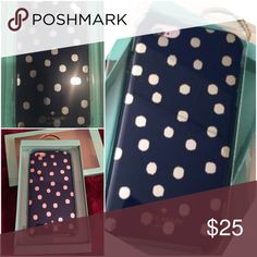 Kate Spade Ikat Hybrid Case BNIB!!!  iPhone 6 Plus case in Navy and Silver. Fabulous design and HTF! kate spade Accessories Phone Cases