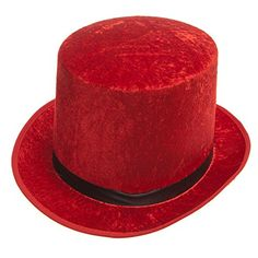 Red Top Hat >>> More info could be found at the image url. (This is an affiliate link) #HatsDressUpToys