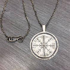Handmade Veldismagn Pendant Necklace, Nordic Stave Necklace, Icelandic Stave Necklace, Stave Jewelry, Nordic Pendant Necklace, Nordic Stave by RococoRiche on Etsy