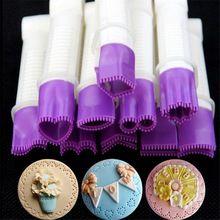 10 cm 10 blume art spitze rand clip fondant keks cutter dekorieren sugarcraft pastecake cupcake cookie zubehör(China (Mainland))