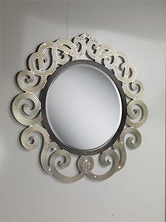 Wall mirror / traditional / round / in wood NOVECENTO CARPANELLI spa