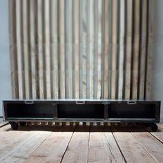 Meuble TV en m�tal 3 casiers sur roulettes Brooklyn CAB Guibox