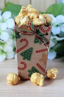 Stampin Up Holiday Popcorn Boxes from The Stampin B                                                                                                                                                                                 More