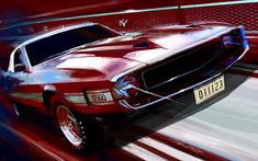 Shelby GT500 painting by Ford design manager Robert Gelardi