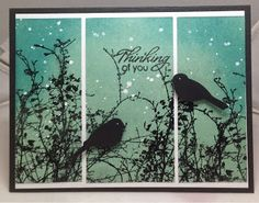 SGD Presents.: Winter branches for Wonderful Wednesday! Wonderful Wednesday, February 11, Bird Cards, Sympathy Cards, Winter Scenes, Happy Friday, Branches, Cardmaking, Card Ideas