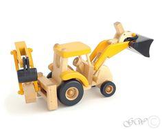 Juguetes ecológicos naturales Tractor de Tractor, juguete del niño, juguete de madera