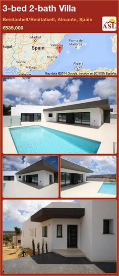 3-bed 2-bath Villa in Benitachell/Benitatxell, Alicante, Spain ►€535,000 #PropertyForSaleInSpain