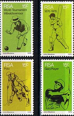 South Africa 1976 Sporting Commemorations Set Fine Mint SG 393 6 Scott 456 9 Other South African Stamps HERE