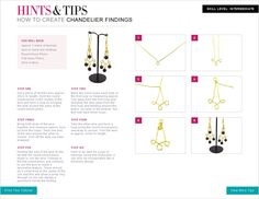 Follow this free jewellery making tutorial to make your very own Chandelier Findings.