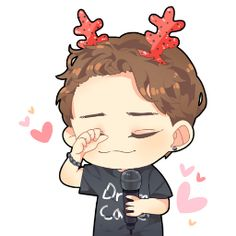 I love when Chen chibis have his smile on point *thumbs up*