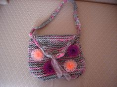 Knitted bag by embroiderytrend on Etsy