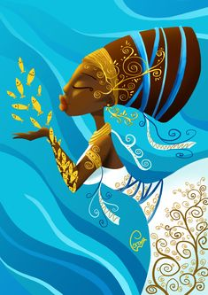 Lorena Azpiri is an illustrator of digital art, comic art, video game art, and children& illustration. Commissions both digital and traditional welcomed. Sexy Black Art, Black Love Art, Orisha, Black Artwork, Afro Art, Magic Art, Historical Art, Amazing Drawings, African American Art