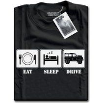 Shop HotScamp Eat Sleep Drive Four Wheel Drive Accessories Gift - Mens Unisex T-Shirt. Free delivery and returns on eligible orders.