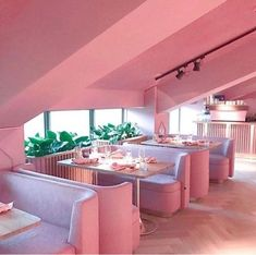 Mama Kelly Restaurant in Amsterdam. An all pink restaurant! Bar Deco, Tout Rose, Deco Rose, Pink Houses, Everything Pink, Pink Walls, Design Furniture, Pink Furniture, My New Room