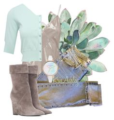 """""""Chilly Spring Morning"""" by kris-ashley ❤ liked on Polyvore featuring Whistles, Vision, M&Co and Yves Saint Laurent"""