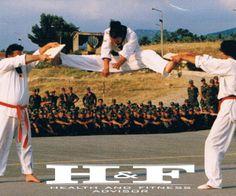 Tae Kwon Do Demonstaration in Army Camp of Kalamata, Greece. Summer 1996.