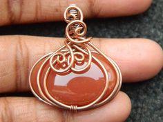 Copper Jewelry, Copper Wire, Charm Jewelry, Wire Jewelry, Jewelry Crafts, Jewellery, Beading Supplies, Jewelry Making Supplies, Wire Wrapped Pendant