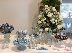 Decoração: Batizado em azul e branco - Viver Bem Moda - CidadeVerde.com ::