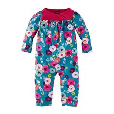 Your baby girl will stand out in any crowd this winter with the warm & unique brightly colored Gabriele's Garten Romper for girls at Tea Collection this fall.
