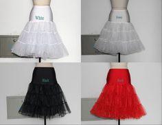 "Retro Underskirt 26"" 50 Tutu Skirt Rockabilly Wedding Petticoat Fancy Net Dress in Clothes, Shoes & Accessories, Wedding & Formal Occasion, Bridal Accessories | eBay"