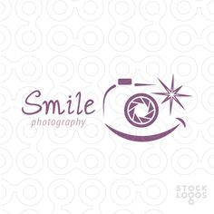 A great logo for kids photography service or any other photographer. Smile photography logo.