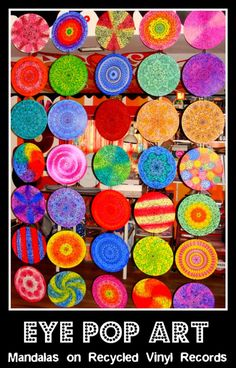 mandalas made from vinyl records...cool