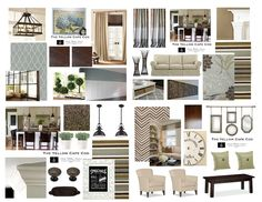the curtains in the top row -- sort of a simple approach -- easy way to bring in all colors