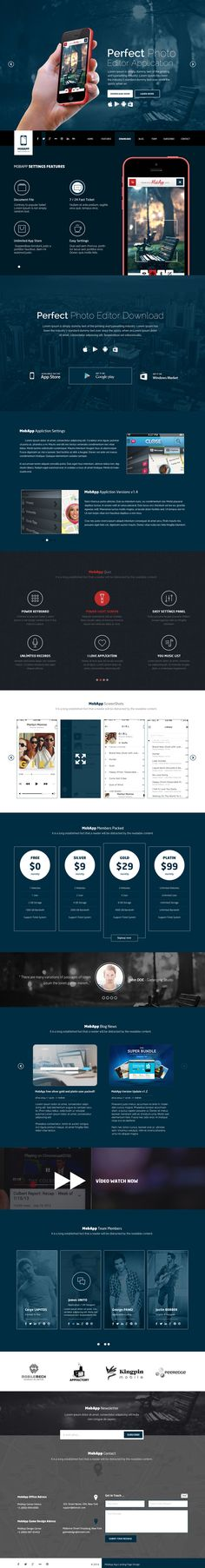 MobApp - One Page App HTML5 Landing Page  #html5templates #psdtemplates