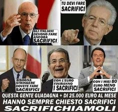 il popolo del blog,notizie,attualità,opinioni : italiano devi fare i sacrifici che li devi mantene...