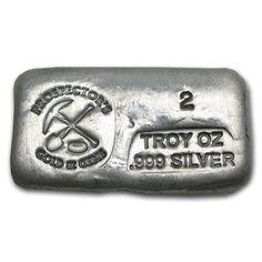 2 oz Silver Bar - Prospector's Gold & Gems